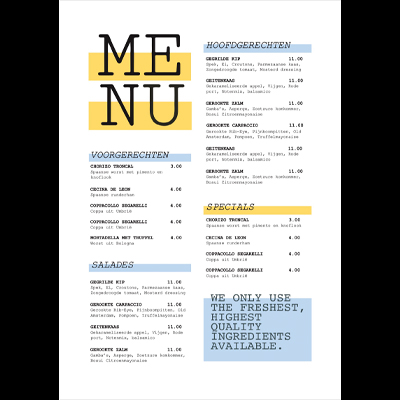 Gratis menu lay-out A4_Menu_400x400_lay-out