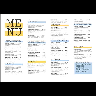 Gratis menu lay-out A5_Menu_400x400_lay-out