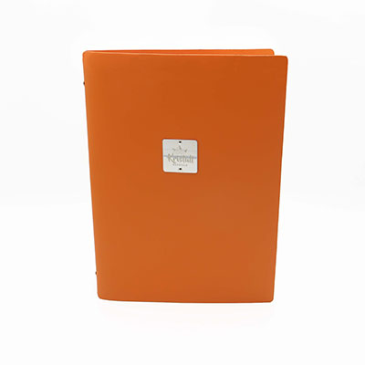 Orange Recycled leder