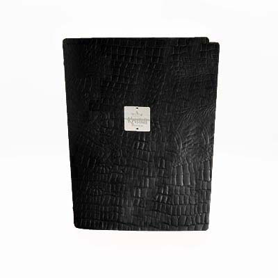 Black Croco Recycled leder