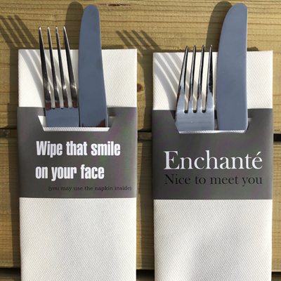 Onbedrukte Servetten naperole-bestek-insnede-wipe-that-smile-enchante